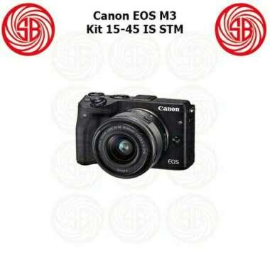 harga New Kamera Canon Eos M3 Kit 15-45 Stm (Resmi Canon Datascrip) Terlaris Hitam Blibli.com