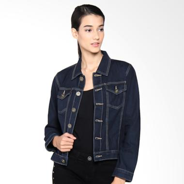 Mobile Power K7604 Ladies Basic Denim Button Jacket