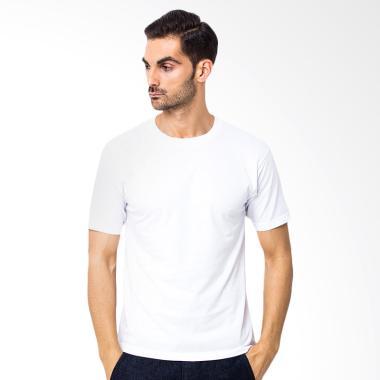 Adhera Clothing Kaos Polos Pria - Putih