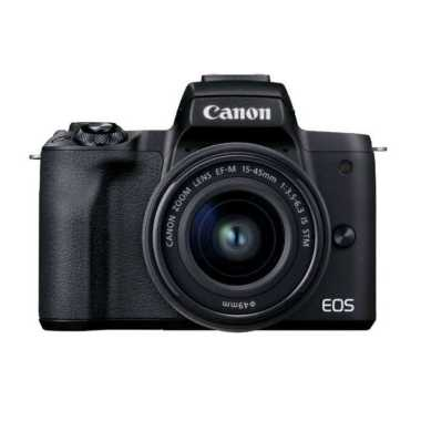 Canon Camera EOS M50 Mark II EF-M15-45mm/55-200mm Black hitam