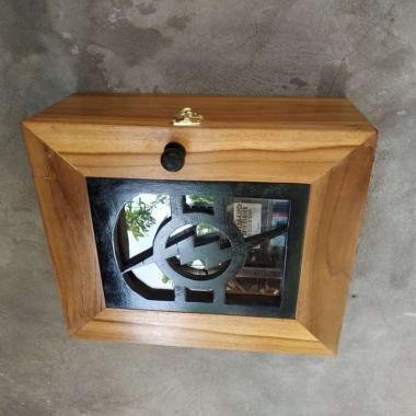 harga Box token meteran listrik kayu jati Blibli.com