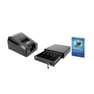 Minipos Paket Komputer Kasir Toko Murah 02 [Software/ Printer/ Laci]