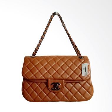 harga Chanel Maxi Tas Selempang Wanita - Brown Blibli.com
