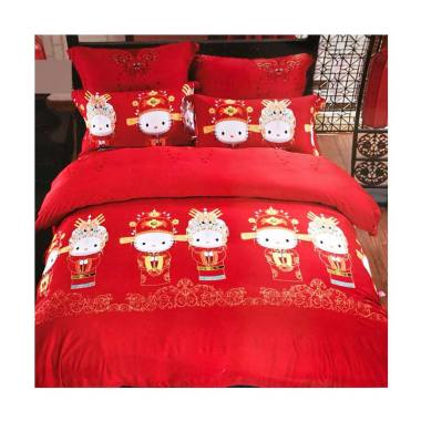 Melia Bedsheet S-0232 Sutra Organic Set Sprei - Red