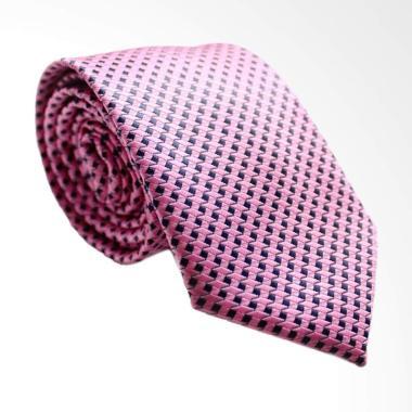The Cufflinks Store Small Checkered Dasi Pria - Pink Blue