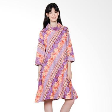 Jogja Batik Aulia Midi Dress Batik - Ungu