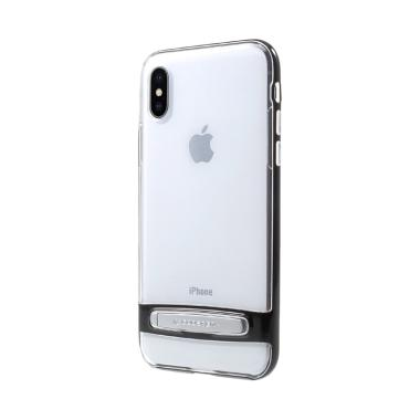 Mercury Dream Stand Bumper Casing for Apple iPhone X 5.8 Inch - Hitam