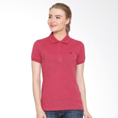 Osella Ladies Hot Coral Polo Shirt Wanita - Misty Merah