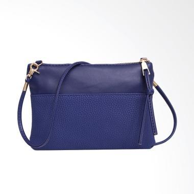 Lansdeal Women Fashion Purse Sling Bag Tas Wanita - Blue [Large]