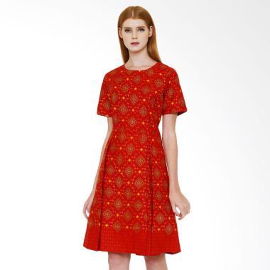 asana_asana-trunamanggala-woman-dress-batik-wanita---red_full05 Inilah Harga Batik Wanita Warna Merah Terbaru minggu ini