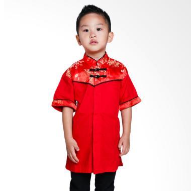 Versail Kids Kemeja Cheongsam Junio ... asan Anak Laki-laki - Red