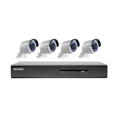 Hikvision 8 CH Turbo HD Paket CCTV [4 Outdoor/2.0 MP/1 TB/100 m]