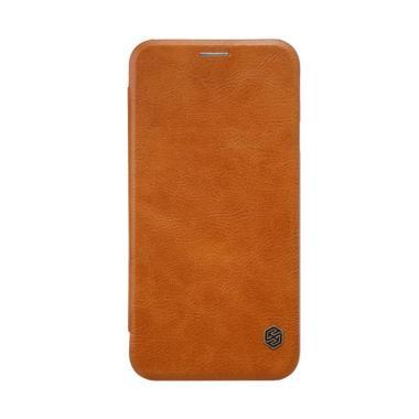 Nillkin Qin Leather Flip Cover Casi ... or Galaxy J7 2017 - Brown