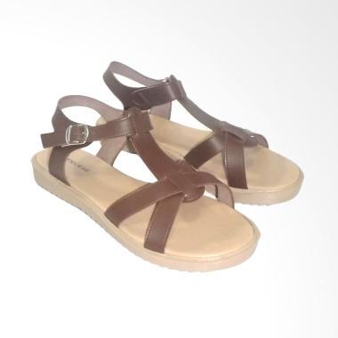 Anneliese Katty Sandal Flat Wanita - Brown