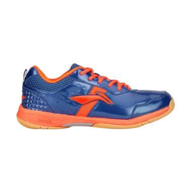 Li-Ning Diva Sepatu Badminton - Blue Orange [AYTM059/ Original]