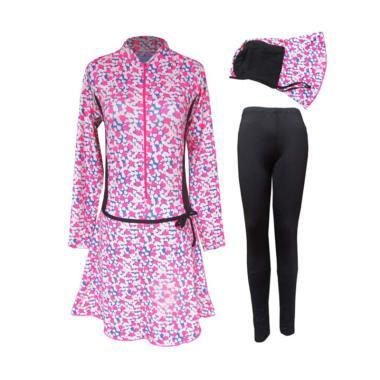 Rainy Collections Motif Hati Baju Renang Muslim Wanita - Multicolor