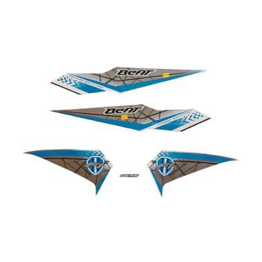 harga Idola Striping Aksesoris Body Motor for Beat FI 2016 - Putih Biru Blibli.com