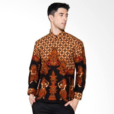 Adiwangsa Batik Modern Slim Fit Kemeja Pria - Coklat [038]