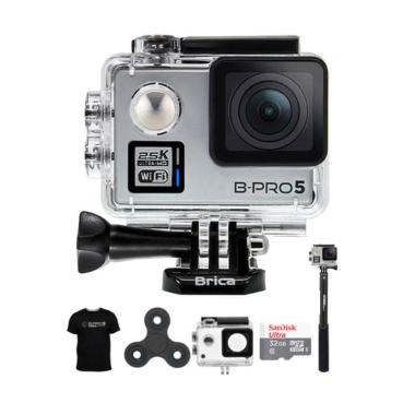 Brica B-PRO 5 Alpha Plus 2 Combo At ... et Action Camera - Silver