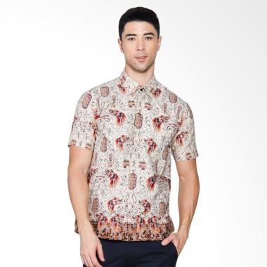 Adiwangsa Batik Modern Slim Fit Kemeja Pria - Putih [047]