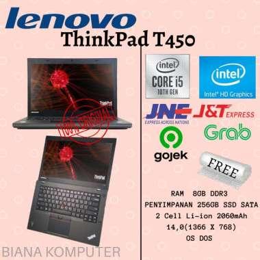 harga Lenovo ThinkPad T450 | Intel i5 | RAM 8GB | 256GB SSD | Layar 14