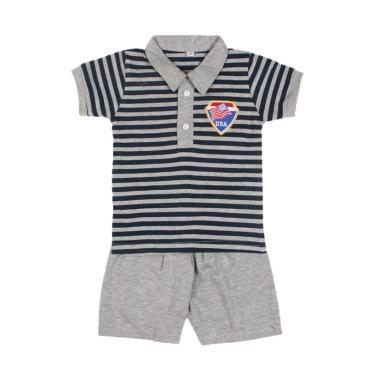 UK-615612 Kerah Setelan Baju Anak Bayi - Abu