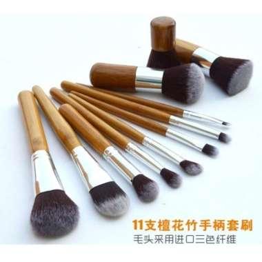 harga Baru Cosmetic Make Up Brush 11 Set with Pouch  Kuas Make Up Berkualitas Blibli.com