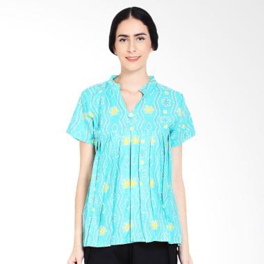 Winggo Etniq Pastel Jumputan Blouse Batik - Hijau