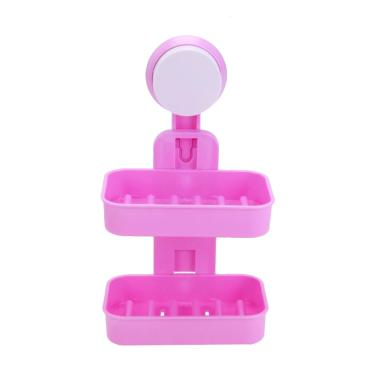 harga Yangunik 2 Susun Double Layer Soap Box Rak Sabun dan Shampoo - Pink Blibli.com