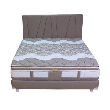 SLEEP CENTER Comforta X5 Surface Cloud Springbed - Brown [Full Set]