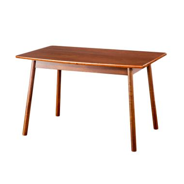 Oscar Furniture Catania Kayu Solid Meja Makan - Cocoa [120 cm]