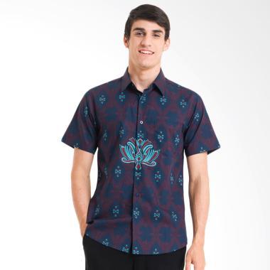 Bateeq Cotton Print Shirt Kemeja Ba ... Pria - Navy [FM004A-FW17]