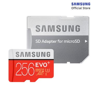 Samsung MicroSD EVO Plus Memory Card with Adapter [256GB]