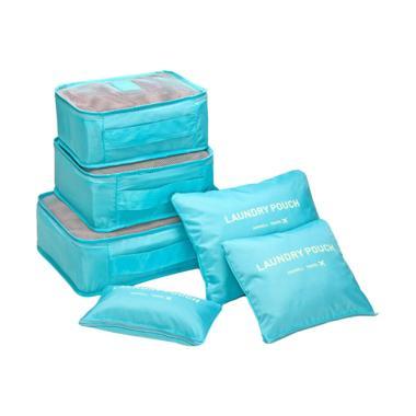 KarnaKamu Laundry Pouch Set Tas Travel Organizer - Sky Blue [6 pcs]