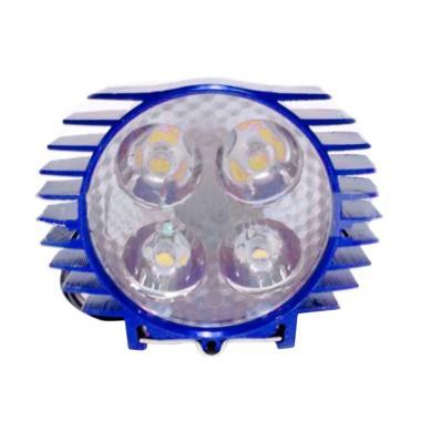 AJV LED 4 Mata Sisik Lampu Sorot - Biru