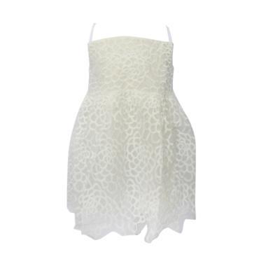 VERINA BABY Elegant Variasi Bordir Bunga Dress Anak - Putih