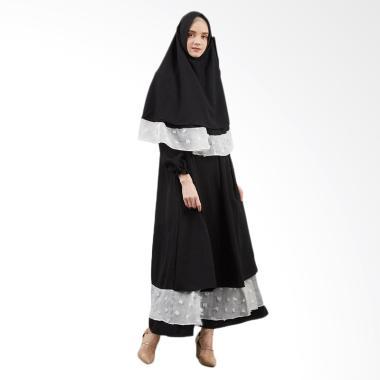 SYAHEERA Khaleef Dress Muslim Syar'i Wanita - Black