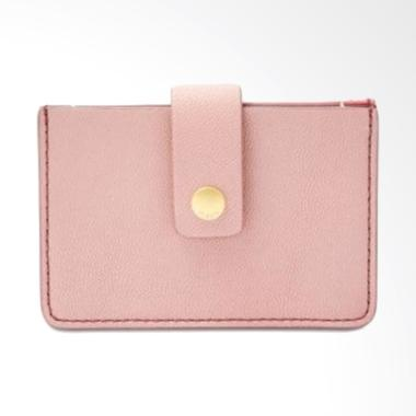 Fossil Mini Wallet Leather Tab Wallet Dompet Wanita - Powder Pink
