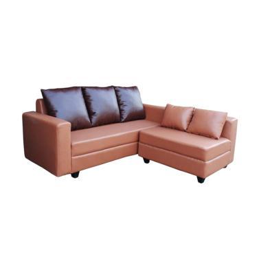 Creova New Town L Set Sofa - Choco [Jabodetabek dan Kota Bandung]