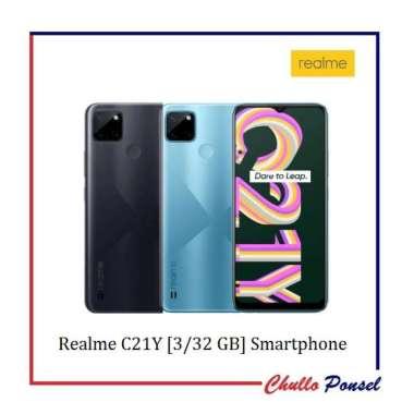 harga Realme C21Y Smartphone [3/32 GB] Garansi Resmi Realme Cross Blue Blibli.com