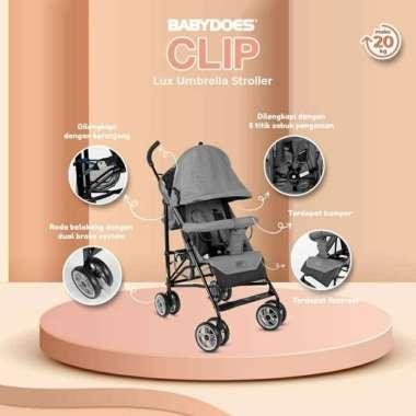 harga Stroller Buggy Babydoes Clip 2062 / Stroller Lipat Seperti Payung abu abu Blibli.com