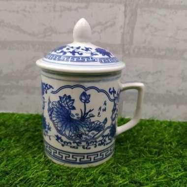 harga Mug Keramik + tutup kansai gelas cangkir ukuran diameter 85cm Multicolour Blibli.com