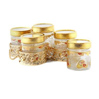 Vicenza GB5 Marigold Candy Jar Set Toples