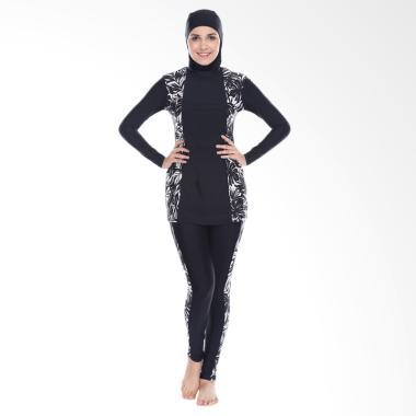 LEE VIERRA Lexa Burqini Pakaian Renang Wanita Muslim - Black
