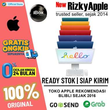 harga IBox - iMac M1 Chip Custom 24inch 7Core 16GB 1TB Z13K0005G / Z14M0005G Silver Blibli.com
