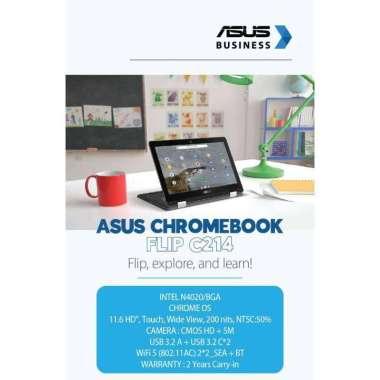 harga Laptop Asus Chromebook C214MA New Garansi Resmi Blibli.com