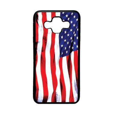 harga HEAVENCASE Motif Bendera Amerika 06 Softcase Casing for Samsung Galaxy J7 DUO - Hitam Blibli.com