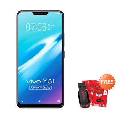 harga VIVO Y81 Smartphone - Black [32 GB/ 3 GB] + Free Flashdisk 16 GB Blibli.com