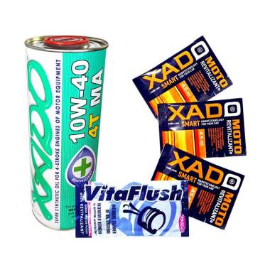 Xado Oli 4T MA + XGR for Small Engine + Vitaflush 20 mL [Set Bundle]