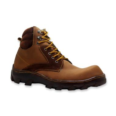 D-Island Shoes Safety Cross Iron Boots Sepatu Pria